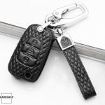 BLACK-ROSE Leder Schlüssel Cover für Hyundai Schlüssel  LEK4-D5