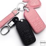BLACK-ROSE Leder Schlüssel Cover für Volvo...