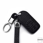 BLACK-ROSE Leder Schlüssel Cover für Volvo Schlüssel rosa LEK4-VL2