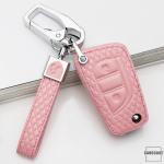 BLACK-ROSE Leder Schlüssel Cover für Toyota,...