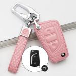 BLACK-ROSE Leder Schlüssel Cover für Toyota, Citroen, Peugeot Schlüssel rosa LEK4-T1