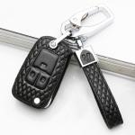 BLACK-ROSE Leder Schlüssel Cover für Opel...
