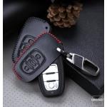 Leder Schlüssel Cover passend für Audi Schlüssel AX2