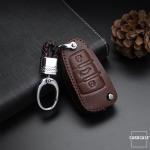 Leder Schlüssel Cover passend für Audi Schlüssel AX3