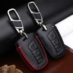 Leder Schlüssel Cover passend für Hyundai Schlüssel D4