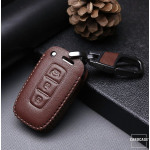 Leder Schlüssel Cover passend für Hyundai Schlüssel D3