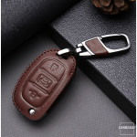 Leder Schlüssel Cover passend für Hyundai Schlüssel D6