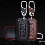 Leder Schlüssel Cover mit Ziernahnt passend für  Schlüssel  LEK18-D3X