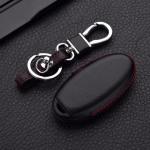 Leder Hartschalen Cover passend für Nissan Schlüssel schwarz LEK48-N7