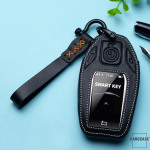 Leder Schlüssel Cover inkl. Lederband & Karabiner passend für BMW Schlüssel  LEK53-B8