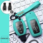 Leder Schlüssel Cover inkl. Lederband & Karabiner passend für Mercedes-Benz Schlüssel  LEK53-M7