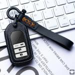 Leder Cover inkl. Lederrband & Karabiner für Honda Schlüssel LEK53-H1-H15