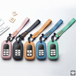 Leder Schlüssel Cover inkl. Lederband & Karabiner passend für Honda Schlüssel  LEK53-H11