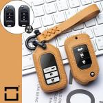 Leder Cover inkl. Lederrband & Karabiner für Honda Schlüssel LEK53-H9-H10