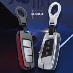 Aluminium, Leder Schlüssel Cover passend für Volkswagen Schlüssel  HEK15-V6