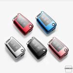 TPU Glossy Schutzhülle mit Tastenschutz passend für Volkswagen, Audi, Skoda, Seat Schlüssel  SEK4-V3
