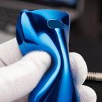 Glossy Silikon Schutzhülle / Cover passend für Mercedes-Benz Autoschlüssel M9 blau