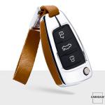 Aluminium, Alcantara Schlüssel Cover passend für Audi Schlüssel  HEK31-AX3