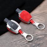 Aluminium, Alcantara Schlüssel Cover passend für Mercedes-Benz Schlüssel  HEK31-M7