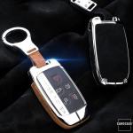 Aluminium, Alcantara Schlüssel Cover passend für Land Rover Schlüssel  HEK31-LR2