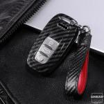Carbon-Look Cover passend für Audi Schlüssel schwarz HEK21-AX4-1