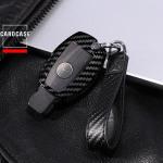 Carbon-Look Cover passend für Mercedes-Benz Schlüssel schwarz HEK21-M7-1