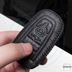 KROKO Leder Schlüssel Cover passend für Ford Schlüssel  LEK44-F9