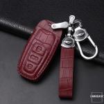 KROKO Leder Schlüssel Cover passend für Audi Schlüssel  LEK44-AX7