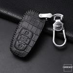 KROKO Leder Schlüssel Cover passend für Audi Schlüssel  LEK44-AX2