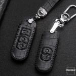 KROKO Leder Schlüssel Cover passend für Mazda Schlüssel  LEK44-MZ1