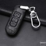 KROKO Leder Schlüssel Cover passend für Mazda Schlüssel  LEK44-MZ2