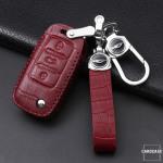 KROKO Leder Cover passend für Volkswagen Schlüssel -LEK44-V2X