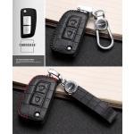 KROKO Leder Schlüssel Cover passend für Nissan Schlüssel  LEK44-N1