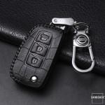 KROKO Leder Schlüssel Cover passend für Nissan Schlüssel  LEK44-N2