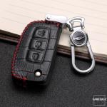 KROKO Leder Schlüssel Cover passend für Nissan Schlüssel  LEK44-N3