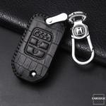 KROKO Leder Schlüssel Cover passend für Honda Schlüssel  LEK44-H9