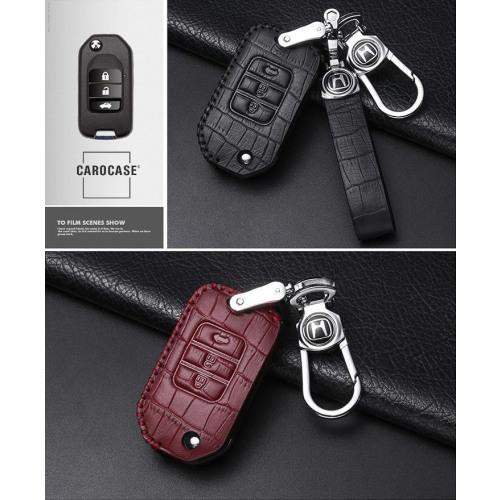 KROKO Leder Schlüssel Cover passend für Honda Schlüssel  LEK44-H10