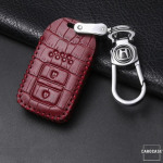 KROKO Leder Schlüssel Cover passend für Honda Schlüssel  LEK44-H11