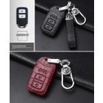 KROKO Leder Schlüssel Cover passend für Honda Schlüssel weinrot LEK44-H11