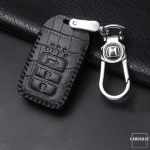 KROKO Leder Schlüssel Cover passend für Honda Schlüssel  LEK44-H12