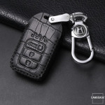 KROKO Leder Schlüssel Cover passend für Honda Schlüssel  LEK44-H14