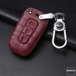 KROKO Leder Schlüssel Cover passend für Hyundai Schlüssel  LEK44-D3