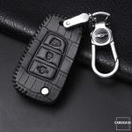 KROKO Leder Schlüssel Cover passend für Hyundai Schlüssel  LEK44-D8