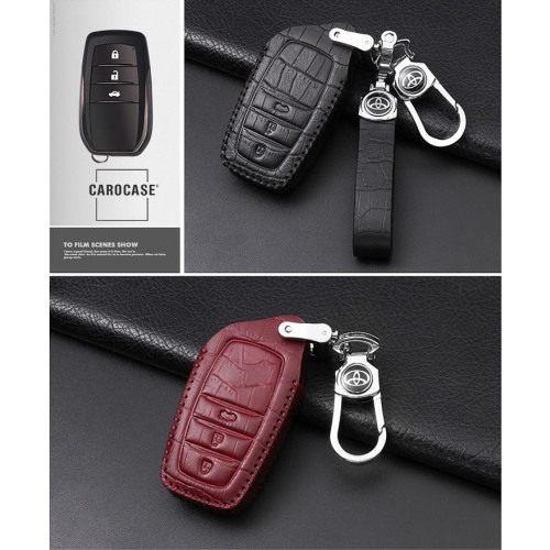KROKO Leder Schlüssel Cover passend für Toyota Schlüssel  LEK44-T4