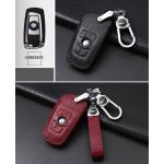 KROKO Leder Schlüssel Cover passend für BMW Schlüssel weinrot LEK44-B4