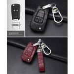 KROKO Leder Schlüssel Cover passend für Opel...