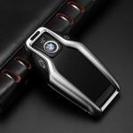Alu Schlüssel Cover für BMW Schlüssel inkl. Lederband  HEK34-B8
