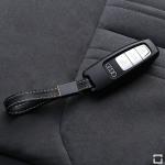 Alu Schlüssel Cover für Audi Schlüssel inkl. Lederband  HEK34-AX7