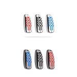 C-LINE Hartschalen Schlüssel Cover passend für Ford Schlüssel anthrazit/rot HEK6-F8-31