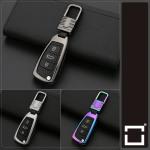 Alu Hartschalen Schlüssel Cover passend für Audi Autoschlüssel  HEK13-AX3
